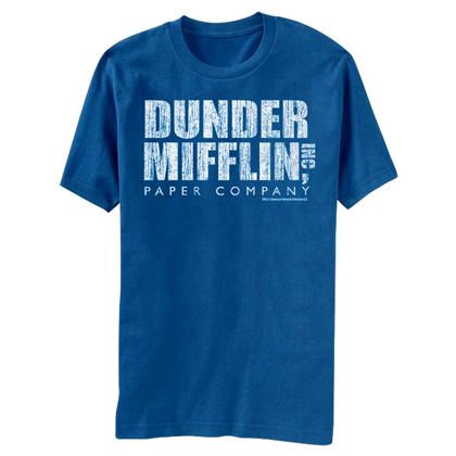 The Office Dunder Mifflin Distressed Logo Tshirt