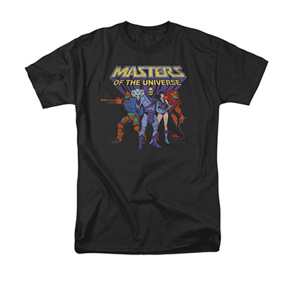 He-Man Masters Of The Universe Villains Black Tee Shirt