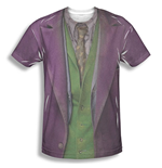 Batman JOKER Costume Sublimation Purple Tee Shirt