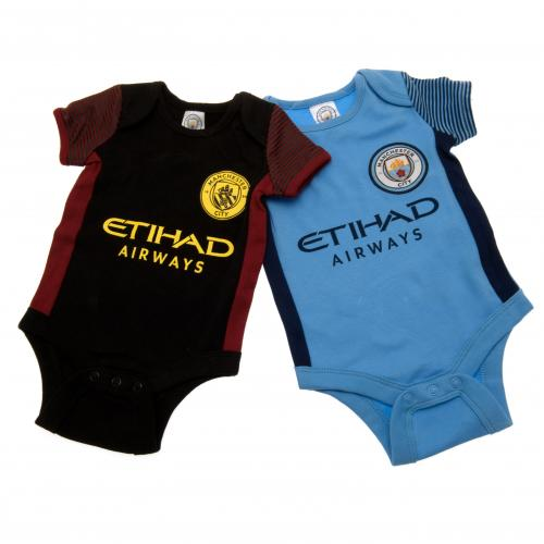 Manchester City F.C. 2 Pack Bodysuit 6/9 mths ST