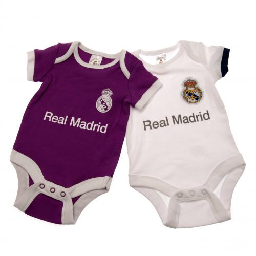 Real Madrid F.C. 2 Pack Bodysuit 9/12 mths PL