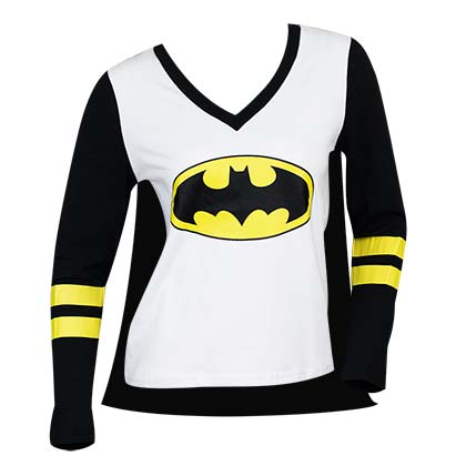 BATMAN Cape Costume Varsity Tee Shirt