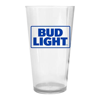 BUD LIGHT Plastic Pint Glass