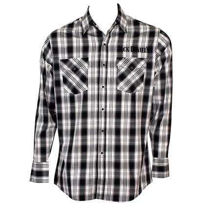 JACK DANIELS Plaid Button Down Shirt
