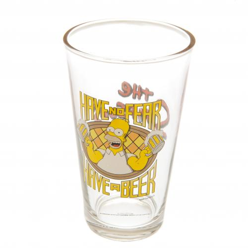The Simpsons Large Glass