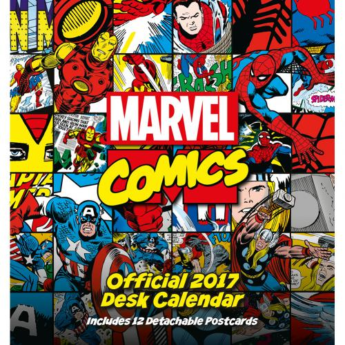 Wallpaper Calendar Superhero : Marvel comics desktop calendar for only £ at