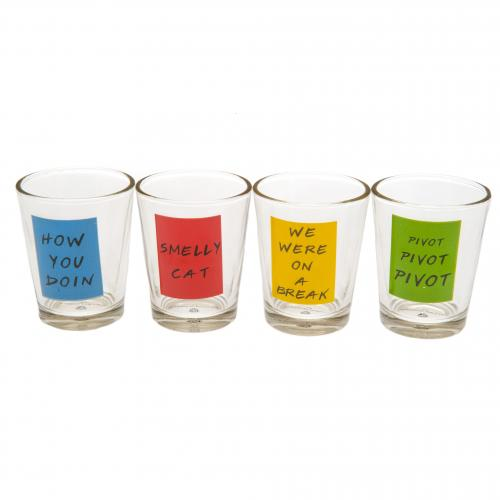 Friends 4pk Shot Glass Set