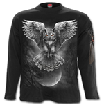 Wings Of Wisdom - Longsleeve T-Shirt Black