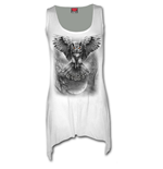Wings Of Wisdom - Goth Bottom Vest Dress White