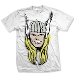 Marvel Comics T-Shirt Thor Big Head Distressed
