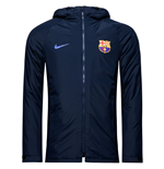 2016-2017 Barcelona Nike Hooded Stadium Jacket (Navy)