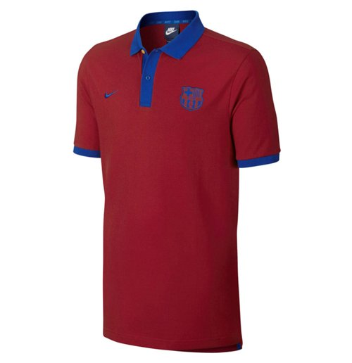 2016-2017 Barcelona Nike Core Polo Shirt (Red)