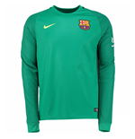 2016-2017 Barcelona Away Nike Goalkeeper Shirt (Green) - Kids