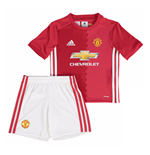2016-2017 Man Utd Adidas Home Little Boys Mini Kit