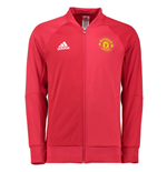 2016-2017 Man Utd Adidas Anthem Jacket (Red)