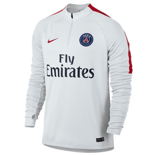 new product 4f589 38cae 2016-2017 PSG Nike Drill Top (White) - Kids