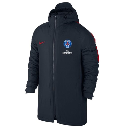 buy official 2016 2017 psg nike hooded stadium jacket dark obsidian. Black Bedroom Furniture Sets. Home Design Ideas