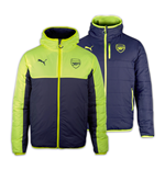 2016-2017 Arsenal Puma Reversible Jacket Jacket (Peacot-Yellow)