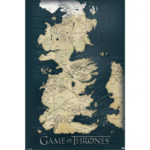 Game Of Thrones Poster Map 210