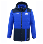 2016-2017 Scotland Macron Rugby Long Puffa Jacket (Navy)