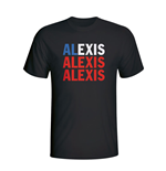 Alexis Sanchez Chile Player Flag T-shirt (black)