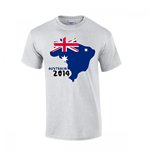 Australia 2014 Country Flag T-shirt (grey)