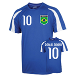 Brazil Sports Training Jersey (ronaldinho 10) - Kids