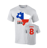 Chile 2014 Country Flag T-shirt (vidal 8)