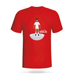 Cristiano Ronaldo Real Madrid Subbuteo Tee (red) - Kids