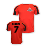 Cristiano Ronaldo Man Utd Sports Training Jersey (red) - Kids