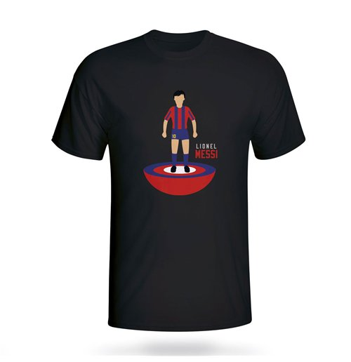 Lionel Messi Barcelona Subbuteo Tee (black) - Kids