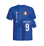 Mario Balotelli Italy Flag T-shirt (blue)