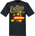 Spain Campeones de Europa T-Shirt (Black)