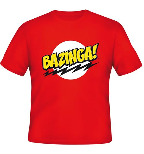 Big Bang Theory T-shirt Bazinga Red