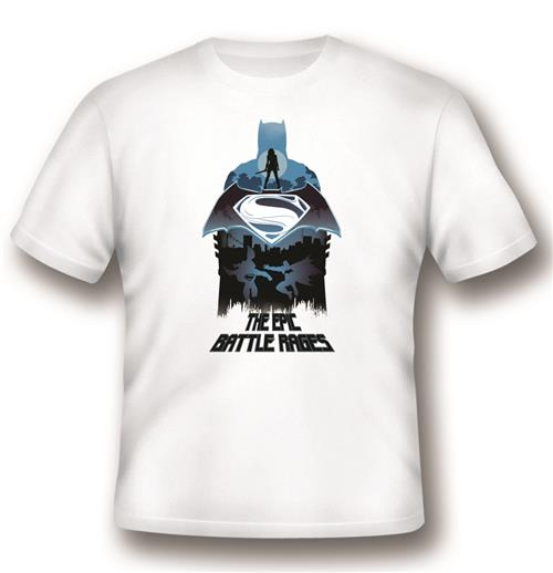Batman vs Superman T-shirt Epic Battle Rages