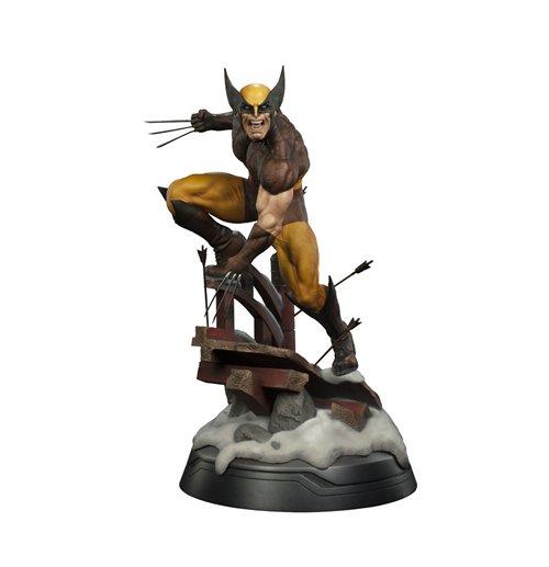buy marvel premium format figure  wolverine brown costume  cm