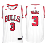 Men's Chicago Bulls Dwyane Wade adidas White New Swingman Home Jersey