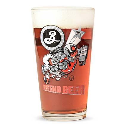 BROOKLYN BREWERY Defend Beer Pint Glass