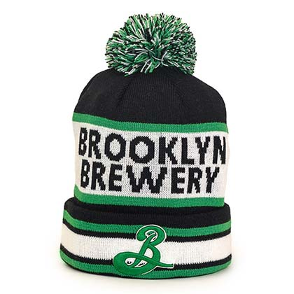 BROOKLYN BREWERY Striped Winter Hat
