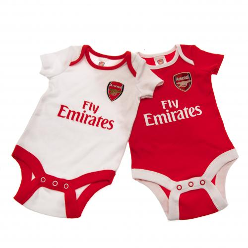 Arsenal F.C. 2 Pack Bodysuit 0/3 mths CP