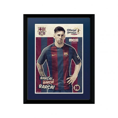 F.C. Barcelona Picture Messi 8 x 6