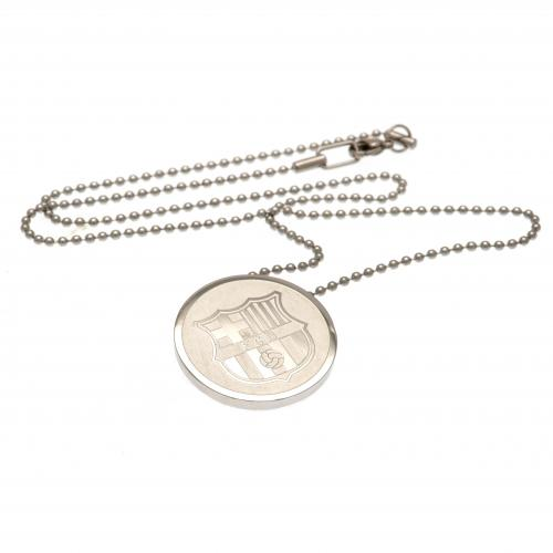 F.C. Barcelona Stainless Steel Pendant & Chain RD