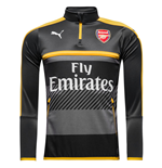 2016-2017 Arsenal Puma Half Zip Training Top (Ebony) - Kids