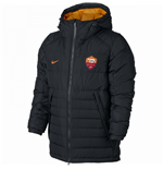 2016-2017 AS Roma Nike Core Down Jacket (Black)
