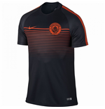2016-2017 Man City Nike Squad Training Shirt (Black-Orange)
