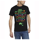 SPACE INVADERS Men's Multi-Coloured Attack T-Shirt, Extra Large, Black