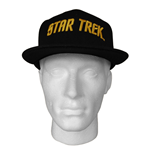 STAR TREK Gold Text Logo Baseball Cap, Black