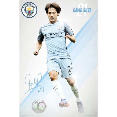 Manchester City F.C. Poster Silva 29
