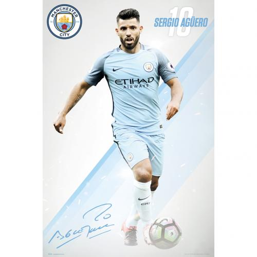 Manchester City F C Poster Aguero 26 For Only 163 5 30 At