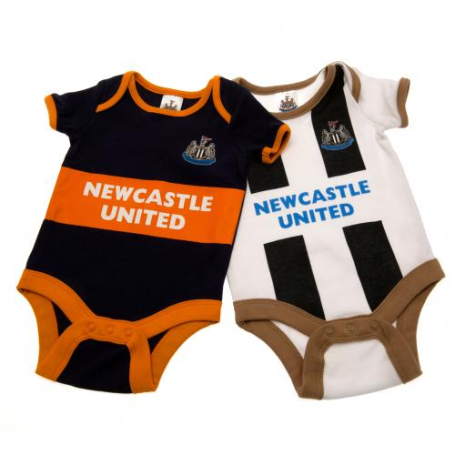 Newcastle United F.C. 2 Pack Bodysuit 3/6 mths